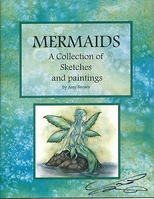 Amy Brown RARE Mermaid Collection Sketches & Paintings Art Book Signed Ocean New