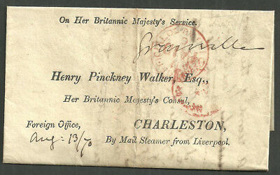 Ohms Foreign Office Printed Address Charleston French Revolution 1790 Granville