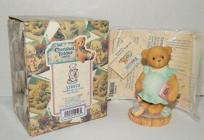 1998 CHERISHED TEDDIES Expecting Mama BEAR Awaiting Baby Arrival 476978 NEW NIB