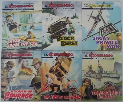 Lot M. SIX x COMMANDO War Picture comics #'s 2082 - 2092. Dated 1987