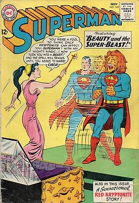 Superman # 165 / V.good+ / Dc 1963 / Beauty And The Super-Beast.