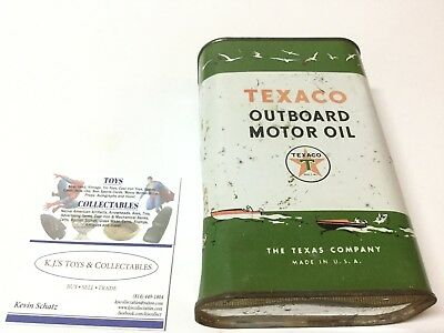 Vintage Texaco Outboard Boat Motor Oil Can Unopened Full Sealed 1 Quart