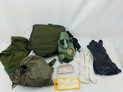 Yugoslavian Serbian M59 Gas Mask with US Chemical Carrier Bag and Accessories