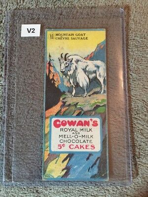 V2 Cowans Chocolate Animals Card - Mountain Goat #11