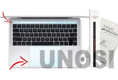 2-PK Clear Touch Bar & Trackpad Protector Film Apple MacBook Pro 2016 2017 2018