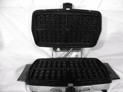 Vtg Magic Maid Son Chef Grill & Waffle Maker Model 932 Works