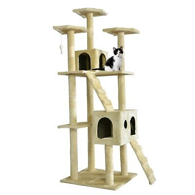 "BestPet 73"" Cat Tree Scratcher Play House Condo Furniture Bed Post Pet House"
