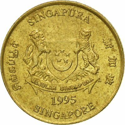 [#543984] Coin, Singapore, 5 Cents, 1995, Singapore Mint, VF(30-35)