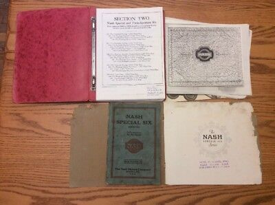 Nash Master Parts Book Advance and Special Six 1925 1926 1927 1928 1929 1930