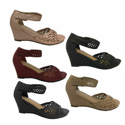 Ladies Shoes Step On Air Protea Wedge Sole Soft Upper 5 colours Size 6-11 New