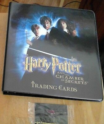 Harry Potter and the Chamber of Secrets Binder, Mini-Master Base Chase Card Sets