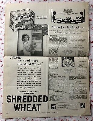 Vintage 1931 Shredded Wheat Print Ad ~ National Biscuit Company