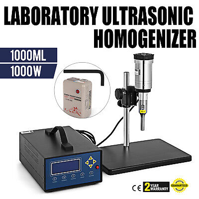 Ultrasonic Homogenizer Sonicator 1000W 20Khz CE Chemical Efficient FREE WARRANTY