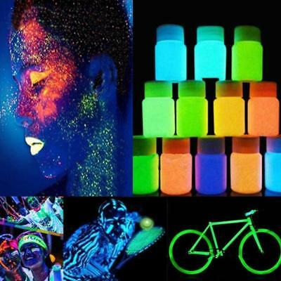 20g Glow in the Dark Acrylic Luminous Paint Bright Pigment Party Decoration  UP