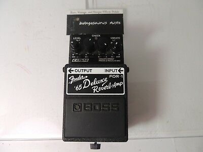 Boss FDR-1 '65 Fender Deluxe Reverb Amp Effects Pedal Free USA Shipping