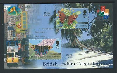 2000 BRITISH INDIAN OCEAN TERRITORY 'Hong Kong 2001' Minisheet MNH (SG MS246)