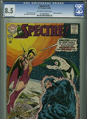 The Spectre #3 - April,1968 - CGC 8.5 (Wildcat appearance - Neal Adams cover)