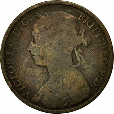 [#543519] Coin, Great Britain, Victoria, Penny, 1892, VF(20-25), Bronze, KM:755