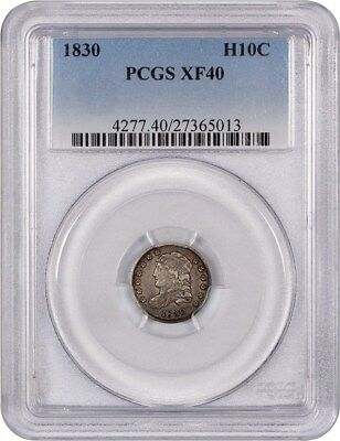 1830 H10c PCGS XF40 - Early Half Dimes