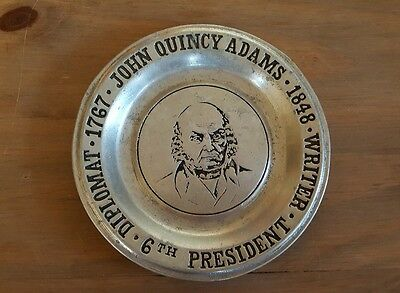 Vintage Wilton Columbia. Pa USA MCMLXXII John Quincy Adams Plate