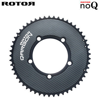 ROTOR Qarbon Round Rings AERO Road Chainring Outer -110BCD x 5(50/52/53T)
