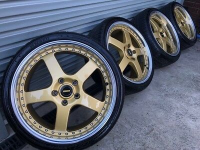 """Genuine Simmons 19"""" Suit Hsv Holden Bmw Wheels New Condition Staggered"""