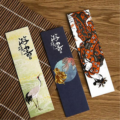 30PCS/LOT Vintage Japanese Style Paper Bookmark Book Marks For Kid Supplies H7