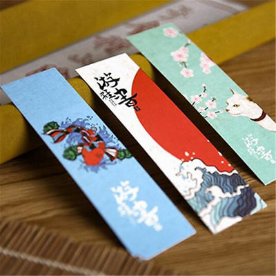 30PCS/LOT Vintage Paper Bookmark Japanese Style Book Marks For Kid Supplies H7