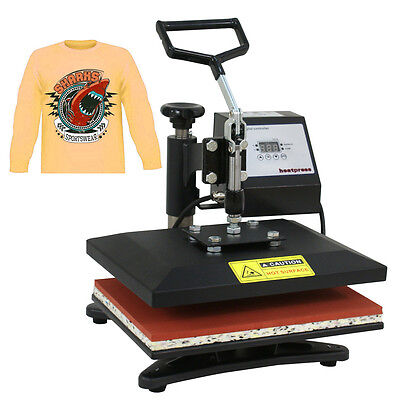 "12""x10"" DIY DIGITAL Heat Press Machine For T-shirts HTV Transfer Sublimation US"
