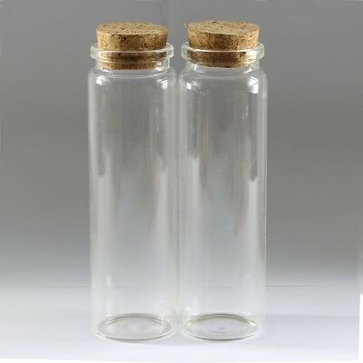 1-5Pcs 90ml (37*120mm) Empty Sample Vials Clear Glass Bottles With Corks Jars A+