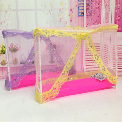 Lovely Doll Bed Barbie Doll Bedroom Furniture Dollhouse Toy Doll Accessories