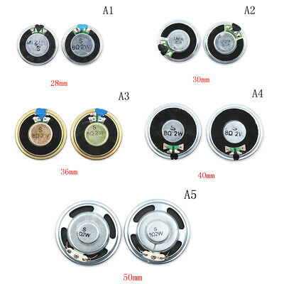 2PCS 8Ω 2W Audio Speaker Stereo Loudspeaker Trumpet Horn 28/30/36/40/50mm