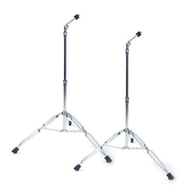 2 X Straight Cymbal Stand Drum Hardware Percussion Mount Holder Gear Set