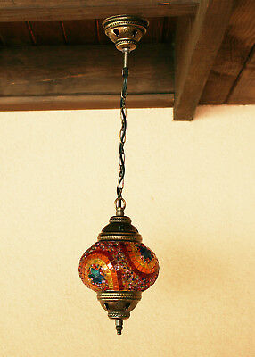 Chandelier Handmade Turkish Mosaic Hanging Lamp Light Ceiling Stained Glass (3)