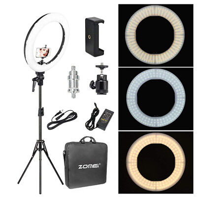 "18"" LED SMD Ring Light Kit With Stand Dimmable 5500K For Camera Makeup Phone"