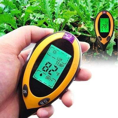 Durable 4 In 1 LCD Moisture Temperature Sunlight PH Garden Soil Tester Meter UP