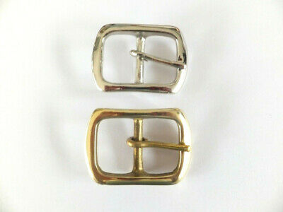 "BS14 - 1""  - 25 mm  SOLID BRASS or NICKEL BELT BUCKLE  LEATHERCRAFT"
