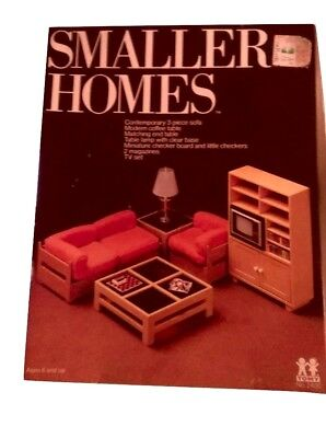 Tomy Smaller Homes DOLLHOUSE LIVING ROOM SET NEW IN THE BOX