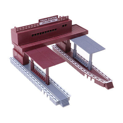 1:87 Train Scenery Structure Station Platform Model HO Scale Railroad Layout