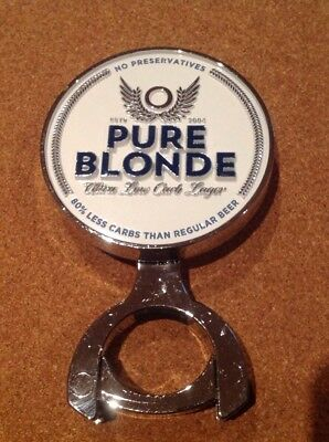 Pure Blonde Beer Tap Badge, Decal, With Mounting Bracket