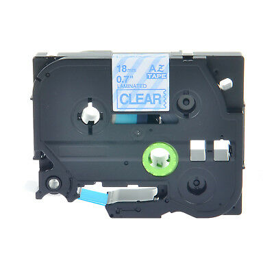 """1PK TZe 143 TZ143 Blue on Clear Label Tape 18mm For Brother P-Touch 3/4"""""""