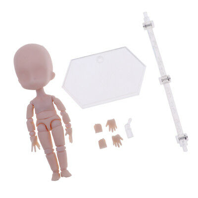 Japanese Joints Movable Nude Doll Body With Display Stand For Obitsu11 Dolls