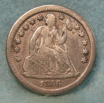 1856-O Seated Liberty Silver Dime FINE ~ Better Date! * US Coin #2578