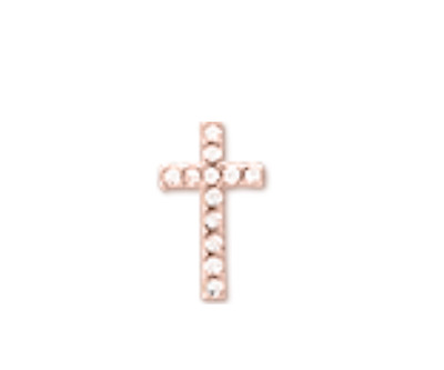 Keep Collective Authentic Cross Pave Rose Gold NWT