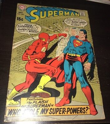 Superman #220 VG/FN (DC,1969) Classic Flash and Superman Body Switch
