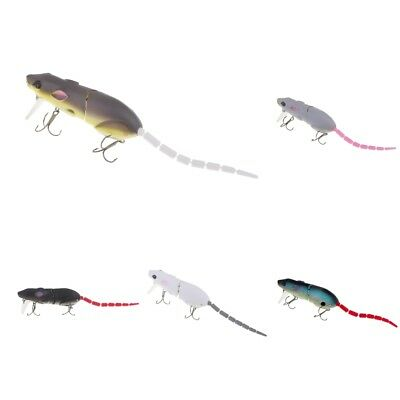 Artificial Mouse Fishing Lure Rat Mice Bait Tackle Hooks Topwater Fishing