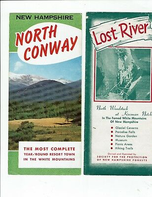 White Mountains, New Hampshire, lot 3 vintage travel brochures & tourist guides