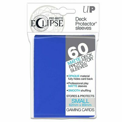 ULTRA PRO DECK PROTECTORS SMALL 60ct Pro Matte 62 x 89 mm Eclipse Pacific Blue