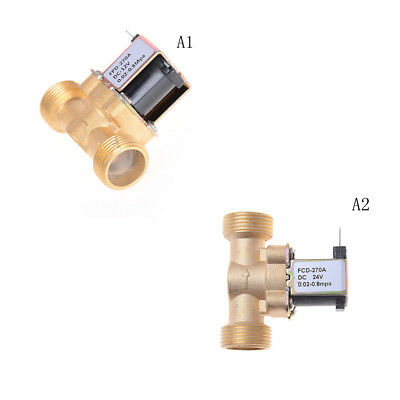 """3/4"""" NPSM DC Brass Electric Solenoid Valve Water Air Normally Closed Valves HGUK"""