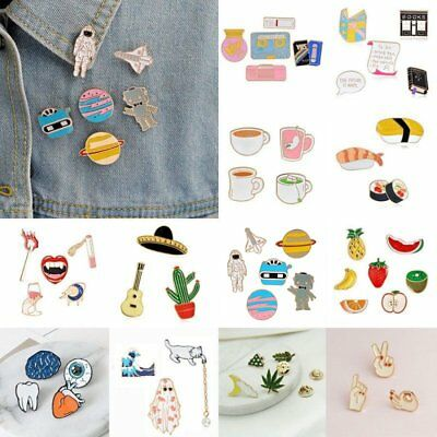 3/4/5/6/7/8 pcs/set Girls Fun Cute Collar Pins Badge Corsage Cartoon Brooch Pin